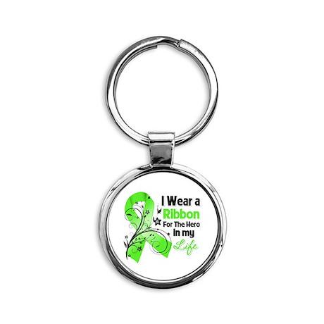 Lyme Disease Round Keychain