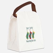 Dear Santa Please Bring More Yarn Canvas Lunch Bag