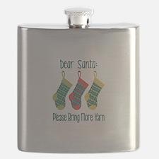 Dear Santa Please Bring More Yarn Flask