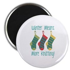 Winter Means More Knitting! Magnets
