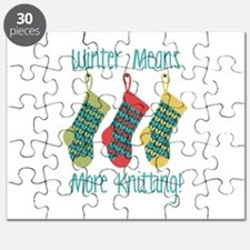 Winter Means More Knitting! Puzzle