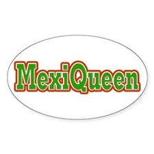 MexiQueen Oval Decal