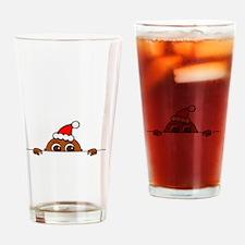 Christmas Baby Peeking Drinking Glass