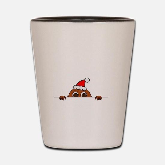 Christmas Baby Peeking Shot Glass