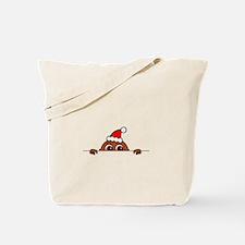 Christmas Baby Peeking Tote Bag