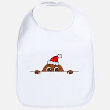 Christmas Baby Peeking Bib