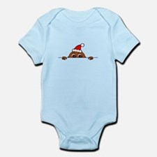 Christmas Baby Peeking Body Suit
