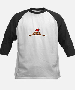 Christmas Baby Peeking Baseball Jersey
