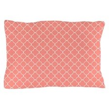 Coral Quatrefoil Pattern Pillow Case