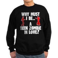 Teen Zombie In Love Sweatshirt (Dark) Sweatshirt (