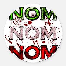 NomNomNom Round Car Magnet