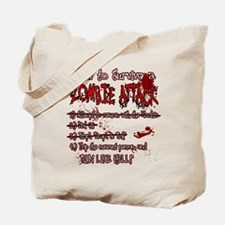 Zombie Attack Survival Tote Bag