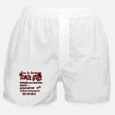 Zombie Attack Survival Boxer Shorts