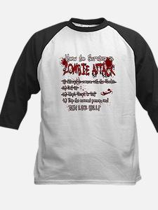 Zombie Attack Survival Baseball Jersey