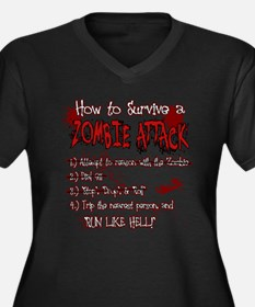 Zombie Attack Survival Plus Size T-Shirt