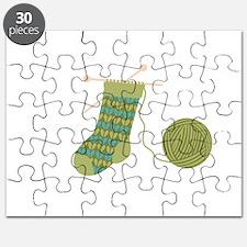 Knit Stocking Needles Yarn Puzzle