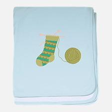 Knit Stocking Needles Yarn baby blanket