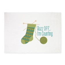 Buzz off... Im Counting 5'x7'Area Rug