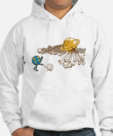 Saturn and its moons Hoodie