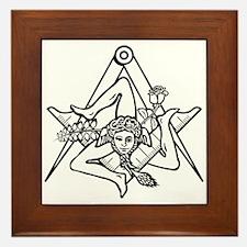 Freemasons Sicilian Trinacria Framed Tile