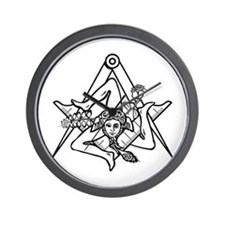 Freemasons Sicilian Trinacria Wall Clock