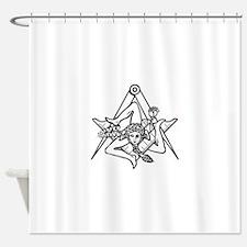 Freemasons Sicilian Trinacria Shower Curtain