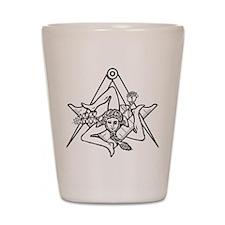 Freemasons Sicilian Trinacria Shot Glass