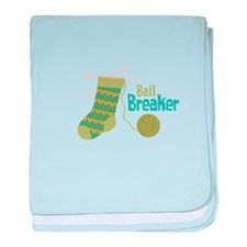 Ball Breaker baby blanket
