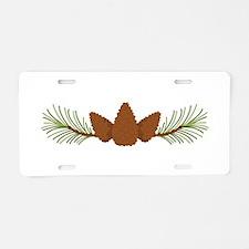 Pine Cones Aluminum License Plate