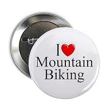 """""""I Love (Heart) Mountain Biking"""" 2.25"""" Button"""