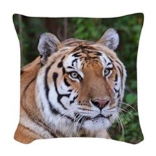 Nikita Tiger Woven Throw Pillow