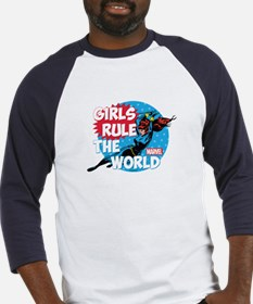 Girls Rule the World Baseball Jersey