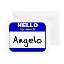 hello my name is angelo  Greeting Cards (Package o