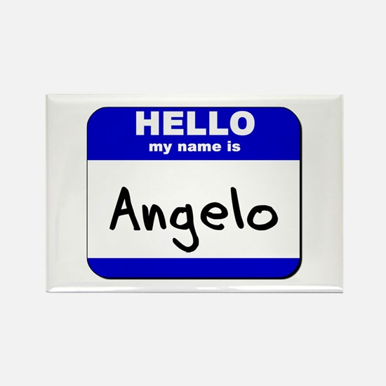 hello my name is angelo Rectangle Magnet