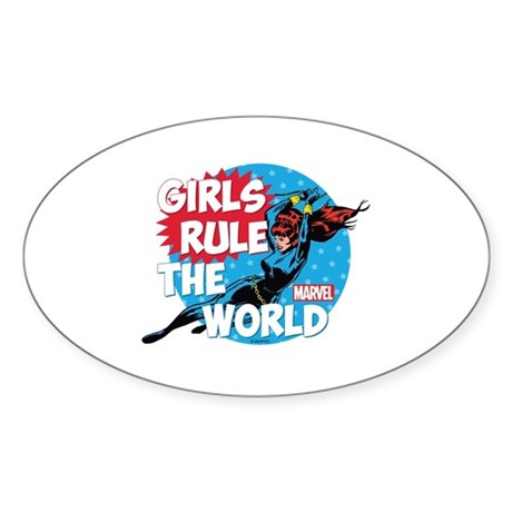 Girls Rule the World Sticker (Oval)