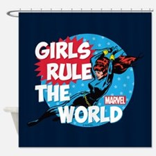 Girls Rule the World Shower Curtain