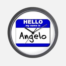 hello my name is angelo  Wall Clock