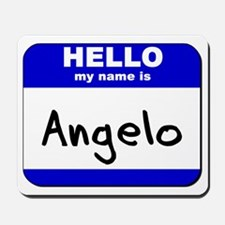 hello my name is angelo  Mousepad