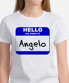 hello my name is angelo Women's T-Shirt