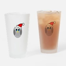Christmas Owl Drinking Glass