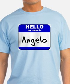 hello my name is angelo T-Shirt
