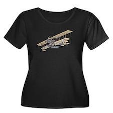 Curtiss JN-4 Jenny Float Plane Plus Size T-Shirt