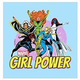 Girl power marvel Wrapped Canvas Art