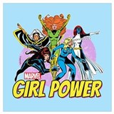 Girl power marvel Framed Prints