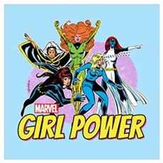 Marvel Girl Power Wall Art Framed Print
