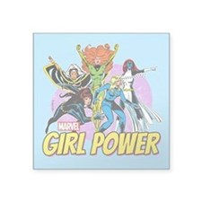 "Marvel Girl Power Square Sticker 3"" x 3"""