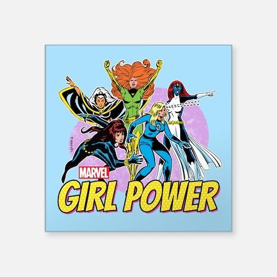 "Marvel Girl Power Square Sticker 3"" x 3"""