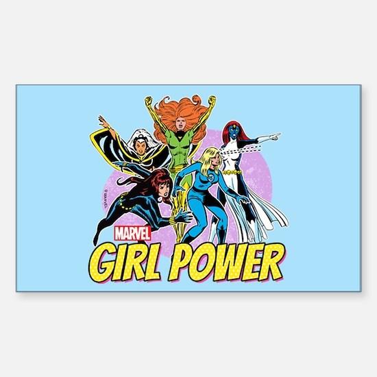 Marvel Girl Power Sticker (Rectangle)