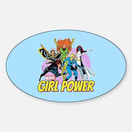 Marvel Girl Power Sticker (Oval)