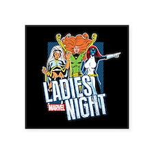 "Marvel Ladies Night Square Sticker 3"" x 3"""